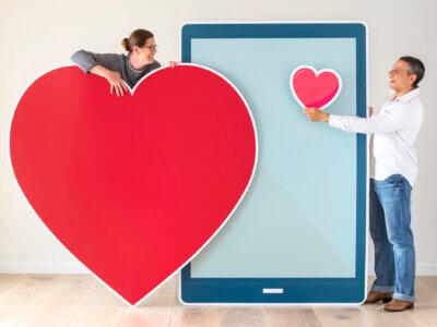 Par mødes via dating app